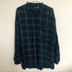Urban Outfitters Oversized Flannel Button Up